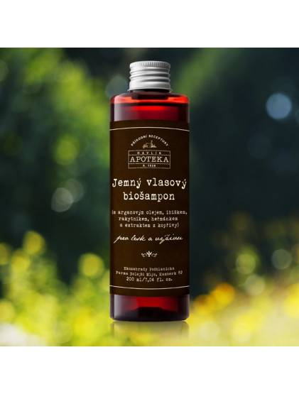 Jemný vlasový šampon pro suché vlasy - 200 ml